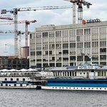 Eastern Comfort Hotel Boat, the view from our porthole, and the remains of the Berlin Wall.