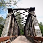 This railroad bridge has been converted into a bridge for pedestrians and bicyclists. It's a gre