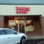 front of & entrance to Peking Express