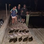 Rockport flounder gigging fishing guide with captain James Parbst