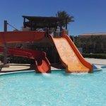 one of kids water slide areas