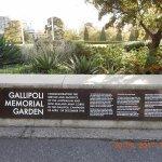 Gallipoli memorial Garden entrance at the Shrine
