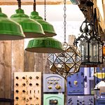 vintage and reclaimed lighting, ironmongery.