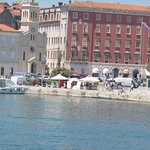 Taken from the water taxi on the way to Trogir - This is the main front in Split