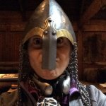 Testing some viking gear. You can touch almost everything in the viking replica building.