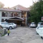 Main entrance and parking facility