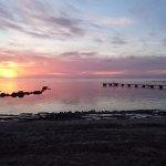 Sunset at the beach at Gustavsvik