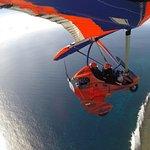 Flying over Ningaloo reef