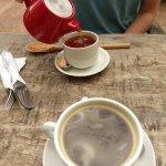 Nice tea and coffee options.