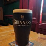 Well poured Guinness and lots of it
