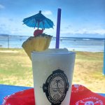 Pina Colada while gazing at the ocean