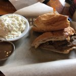 Pork sandwich with very tasty au jus.