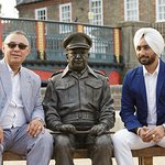 Wonderfull afternoon teas with the legend Satinder Sartaj for his movie The Black  Prince and Ca