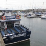 """The """"May Princess"""" in Anstruther harbour."""