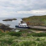 """The """"May Princess"""" at Kirkhaven on the Isle of May."""