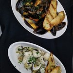 Mussels and clam dishes