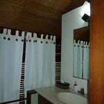 Toilet and basin upstairs off bedroom