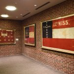 Battle flags of confederate units once present in Corinth
