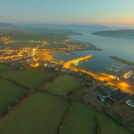 Dingle town from the Air.