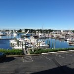 View of Hyannis harbor from room deck