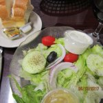 Fresh bread & garden salad