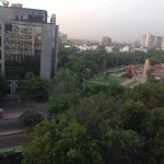 View of Jantar Mantar from room in The Park Hotel