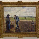 Pointilist painting by Pissaro
