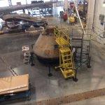 Apollo 11, in the Restoration Hangar, getting some TLC.