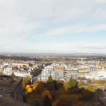 Panorama shot of Edinburgh from the castle walls