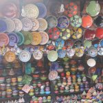 Colourful displays in the medina