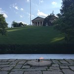 JFK eternal flame and Arlington House above