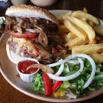 THE DON ..... 8oz burger with bacon/cheese/onions/mushrooms. Its not on the menu but they will d