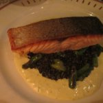 Seared Salmon on Lentils