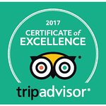 St Maurice Beach Inn award with the 2017 Certificate of Excellence from Tripadvisor