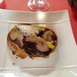 La juteuse tartine de foie gras à la gelée de vin de Cahors