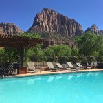 View from the pool at Cable Mountain Lodge