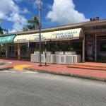 Jewels & Linens store front in the day time. Located next to the Maho Pharmacy.