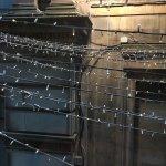 Nice wall with fairy lights!