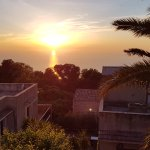 Sunset over Erice roofs