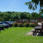 Cafe and picnic area by the car park