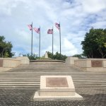 The war memorial for fallen soldiers in Battle of Saipan.