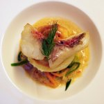 Red Mullet Fillet and Souffle of Red Mullet, Lobster Sauce
