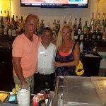 lobby bar: Chris, Felipe, and Debi