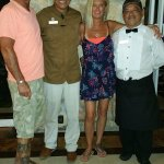 lobby bar: Chris, Alex, Debi & Felipe