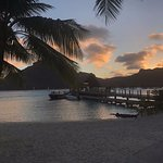 This is the hotel boat dock where you catch rides to Vaitape.