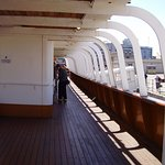 On the deck of the Nomadic.