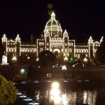 This is a night view of the gorgeous Parliament Building on the Harbor!