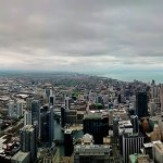 Skydeck Chicago atop the Willis Tower - Pano shot