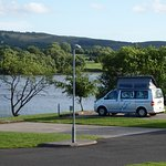 Our camper van by the lochside
