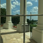 View from inside the White House